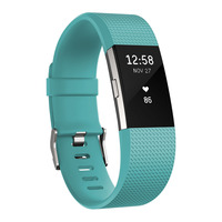 Fitness Tracker Charge 2, Teal Silver Large