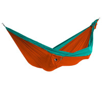 Double Parachute Hammock, Orange/ Turquoise