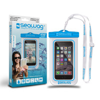 Waterproof Case for Smartphones, Clear/ Blue