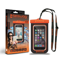 Waterproof Case for Smartphones, Black/ Orange