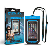 Waterproof Case for Smartphones, Black/ Blue
