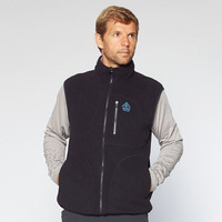 Fleece Vest Kluane Full Zip, Black