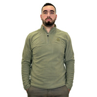 Fleece Sweater Kluane Half Zip, Grindle Green