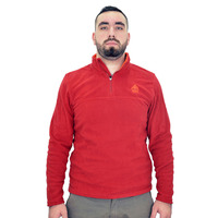 Fleece Sweater Kluane Half Zip, Red