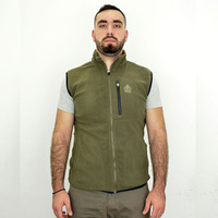 Fleece Vest Kluane Full Zip, Khaki