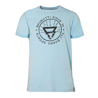 T-shirt Warped, Light Blue