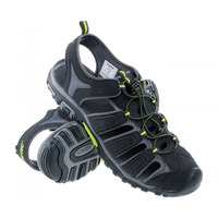 Eritio Sandals, Black/ Lime