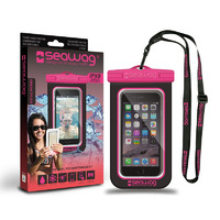 Waterproof Case for Smartphones, Black/ Fuchsia