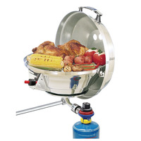 Marine Kettle Gas Grill with Hinged Lid Party Size