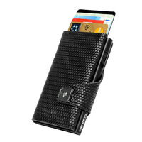 Click & Slide Wallet, Diagonal Carbon Black
