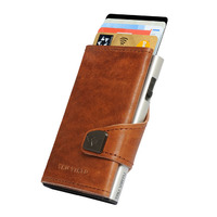 Click & Slide Wallet, Natural Brown