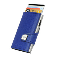 Click & Slide Wallet, Needle Electric Blue