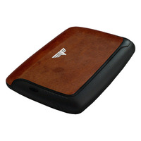 Card Case Leather, Natural Brown