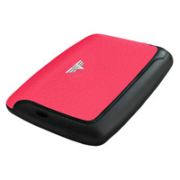 Card Case Leather, Rubin Red