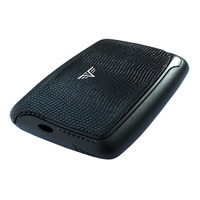 Card Case Leather, Lizard Black
