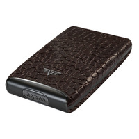 Credit Card Leather, Croco Brown