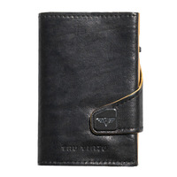 Click & Slide Wallet, Caramba Black - Yellow/ Gold