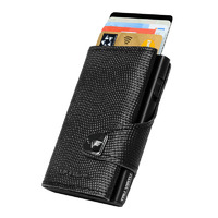 Click & Slide Wallet, Lizzard Black