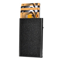 Card Case Click & Slide, Sting Ray Black