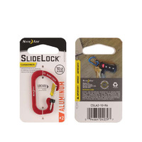 SlideLock Carabiner Aluminum, Red, Size 2