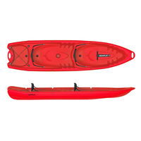Kayak for 2 Persons & 2 Kids, Duorum, Red