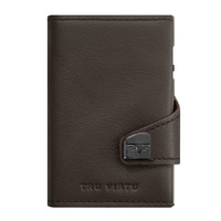 Click & Slide Wallet, Nappa Brown