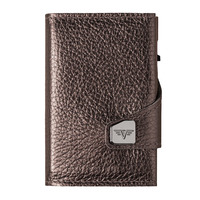 Click & Slide Wallet, Brown Metallic