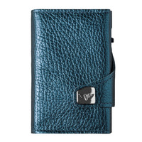 Click & Slide Wallet, Navy Metallic/ Silver