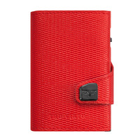 Click & Slide Wallet, Rhombus Coral/ Red
