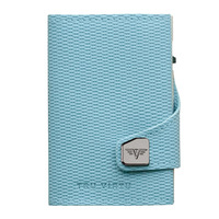Click & Slide Wallet, Rhombus Light Blue/ Silver
