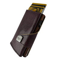 Click & Slide Wallet, Iguana Glossy Blackberry/ Brown