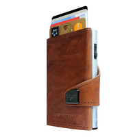 Click & Slide Wallet Premium Edition, Natural Brown