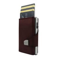 Click & Slide Pocket Coin, Nappa Brown